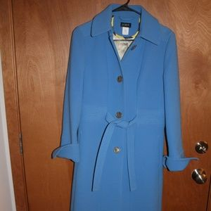 Beautiful J Crew Blue Trench coat 8